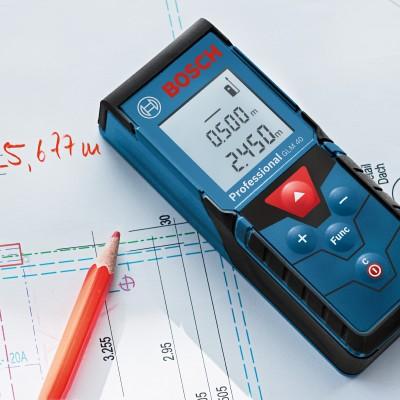 Máy đo khoảng cách Laser Bosch GLM 40 (GLM 4000) chính hãng + tặng Combo pin sạc