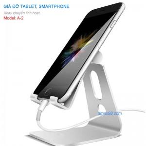 Giá đỡ điện thoại, máy tính bảng, iphone, ipad, smartphone hợp kim nhôm cao cấp