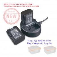 Bộ 02 Pin sạc máy ảnh Sony Fz100 cho A7iii, A7riii, A7Siii, A9 chính hãng Kingma