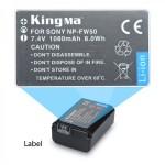 Pin FW50 cho máy ảnh Sony chính hãng Kingma