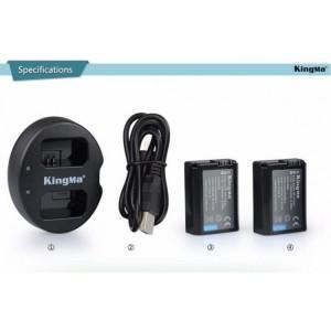 Bộ 02 pin + sạc FW50 cho máy ảnh Sony chính hãng Kingma