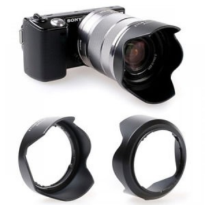 Hood nhựa cho ống kính Sony Sel 18-55mm, Sel 35mm, Sel 28mm F2