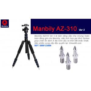 Chân máy ảnh Tripod Manbily AZ310 chính hãng bản có chân đinh