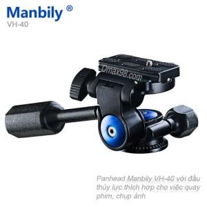 Đầu video chuyên nghiệp Panhead Manbily Vh-40 chính hãng