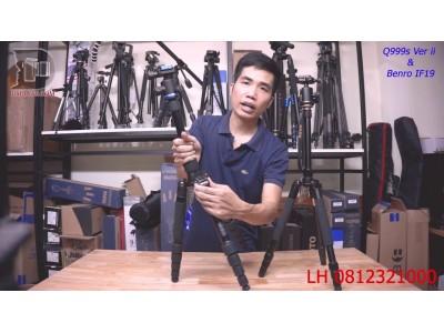 Tripod Benro IF19 và Beike Q999s - Chân máy ảnh Hao hao giống nhau mà giá đắt gấp 2 nhau