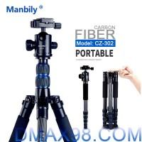 Chân máy ảnh Tripod Manbily CZ-302 Carbon Fiber chính hãng