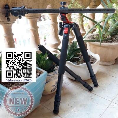 Chân máy ảnh tripod M28A - Trục đứng vuông góc, quay thao tác tay