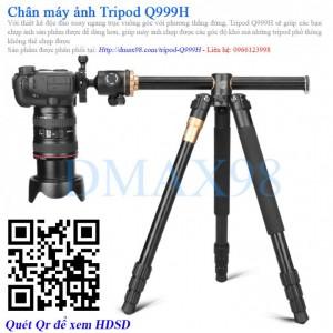 Chân máy ảnh Tripod Beike Q999H bản trục đứng vuông góc