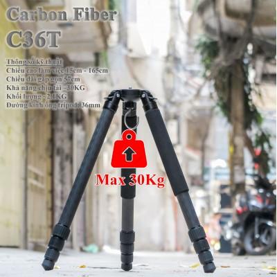 Chân máy ảnh tripod Carbon C36T tải trọng 30kg