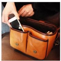 Túi da đựng máy ảnh Size M phong cách Vintage