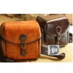 Túi da đựng máy ảnh size S phong cách Vintage