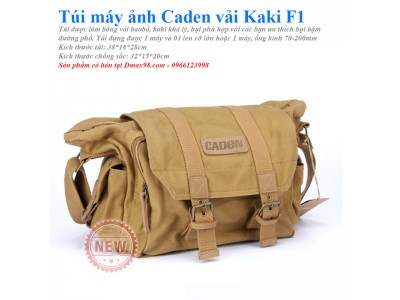 Túi máy ảnh Canden K1 kaki size XL vải bao bố