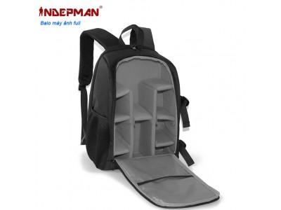 Balo máy ảnh INDEPMAN (L) chính hãng đựng nhiều ống kính, laptop