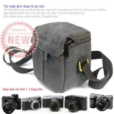 Túi đựng máy ảnh mini gọn nhẹ đi du lịch