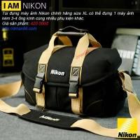 Túi đựng máy ảnh Nikon chính hãng size XL chất liệu tốt