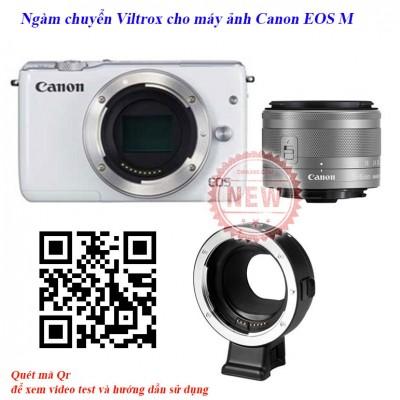 Ngàm chuyển viltrox cho lens Canon EF sang máy Mirrorless EOS-M chính hãng giá rẻ nhất